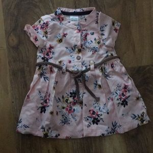 Floral pink baby dress
